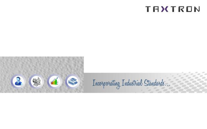 Incorporating Industrial Standards…