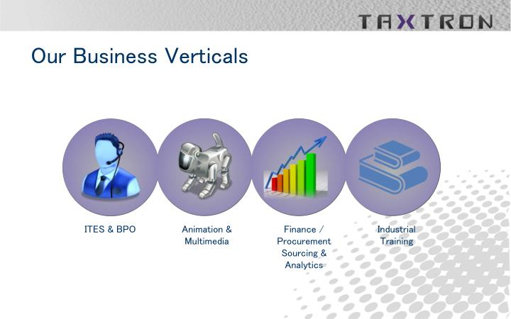 Our business verticals