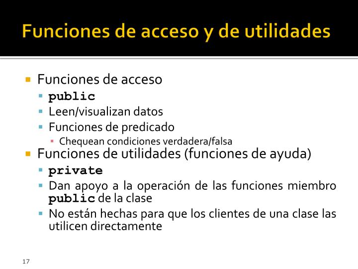 Funciones de acceso y de utilidades