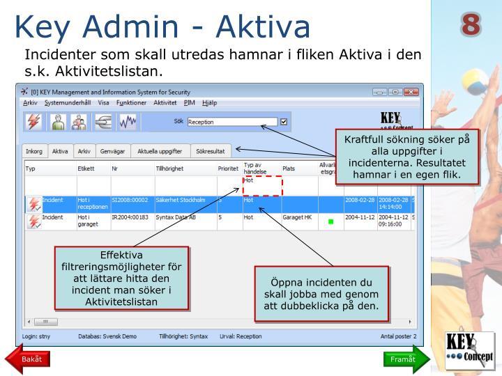 Key Admin - Aktiva