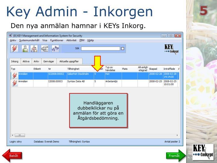 Key Admin - Inkorgen