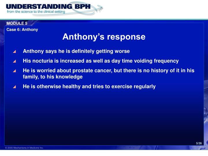 Anthony's response