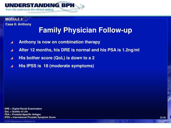Family Physician Follow-up