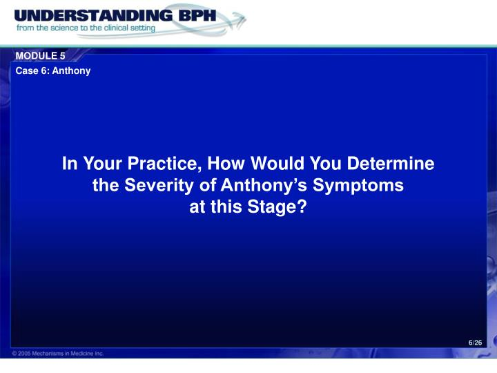 In Your Practice, How Would You Determine