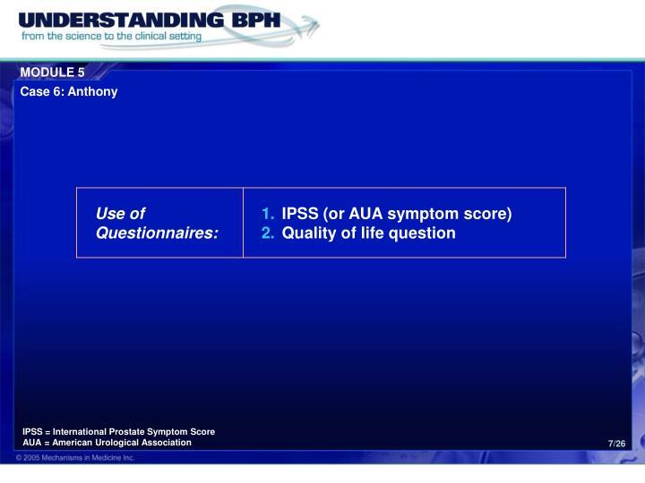 IPSS = International Prostate Symptom Score