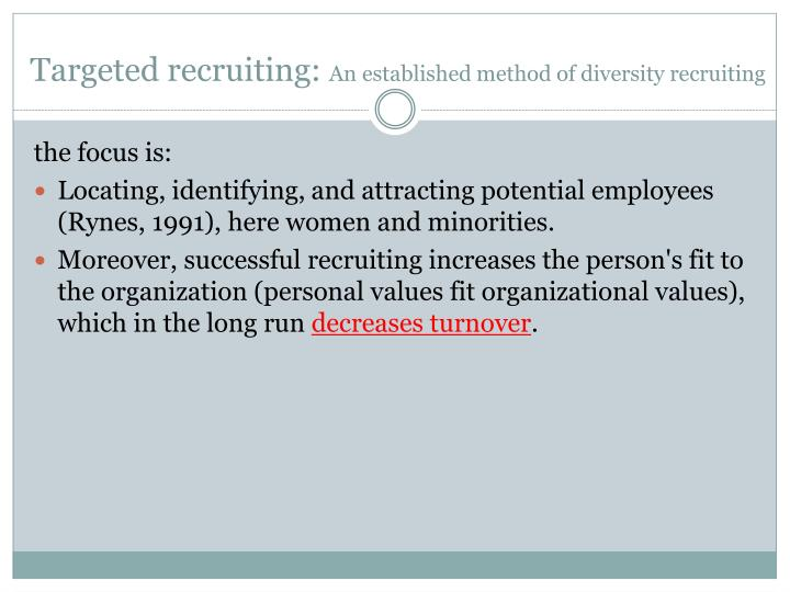Targeted recruiting: