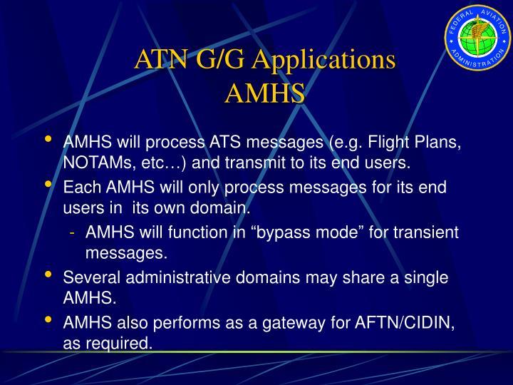 ATN G/G Applications