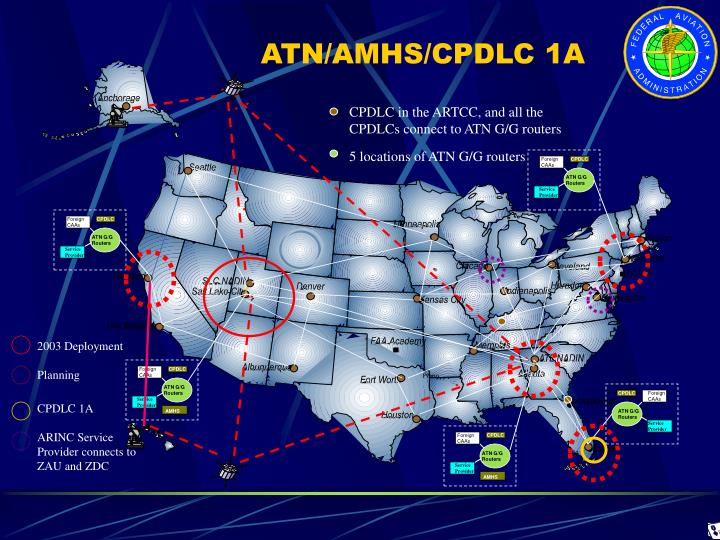 5 locations of ATN G/G routers