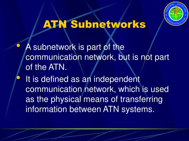 ATN Subnetworks