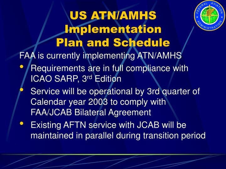 US ATN/AMHS Implementation