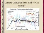 climate change and the end of old europe