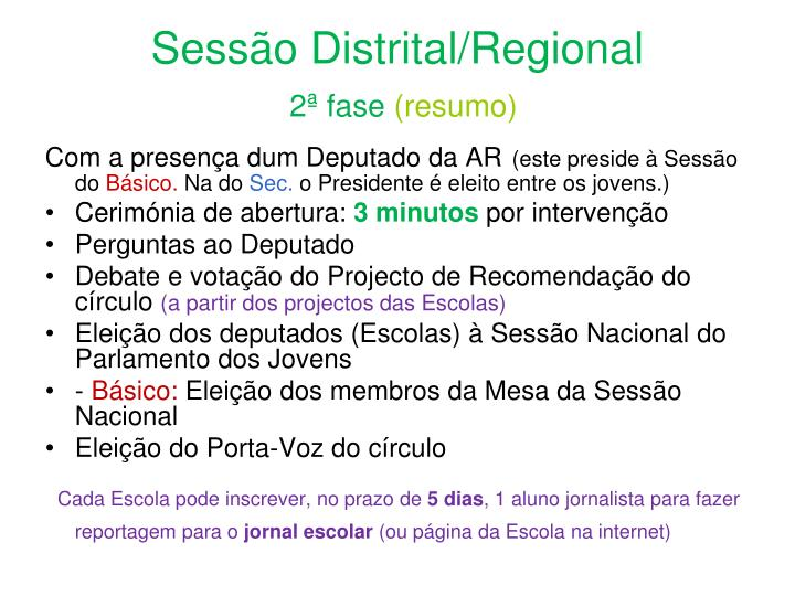 Sessão Distrital/Regional