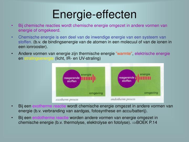 Energie effecten