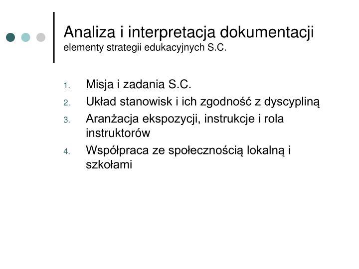 Analiza i interpretacja dokumentacji