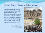 goal two peace education2