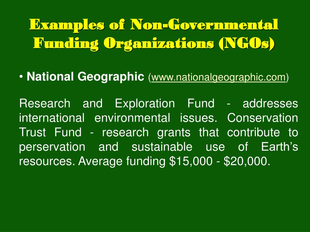 PPT - Funding for Environmental and Sustainable Development