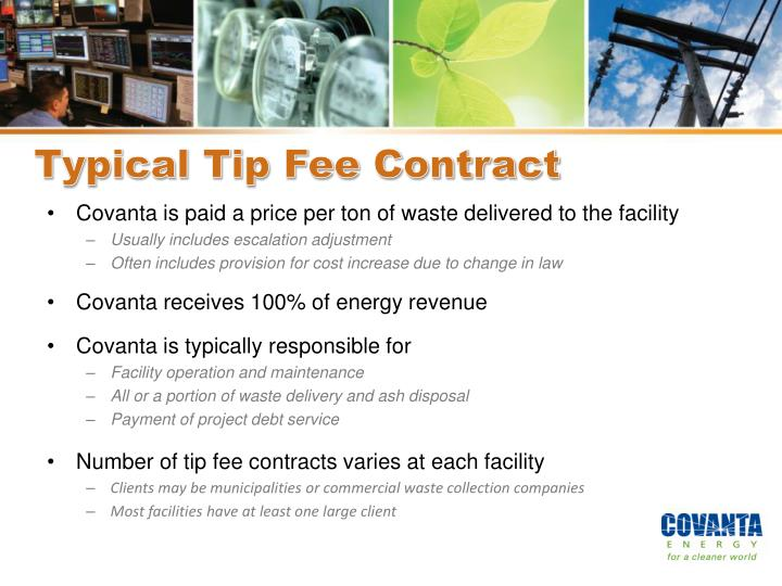 Typical Tip Fee Contract