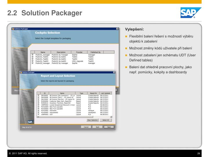 2.2	 Solution Packager