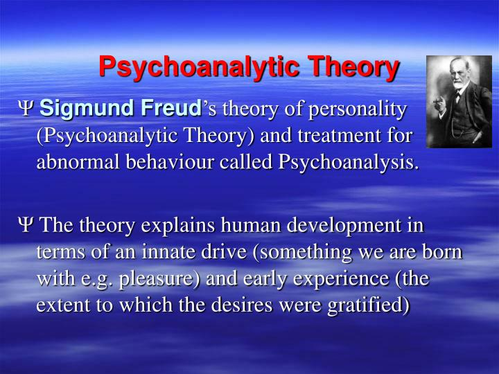 psychoanalysis and theories A description of various theories of, and theoretical approaches to, psychological treatment, including psychoanalysis, psychodynamic psychotherapy, and cognitive-behavioral therapy.