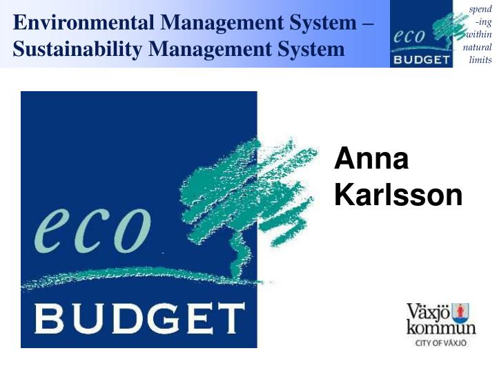 environmental management system sustainability management system n.
