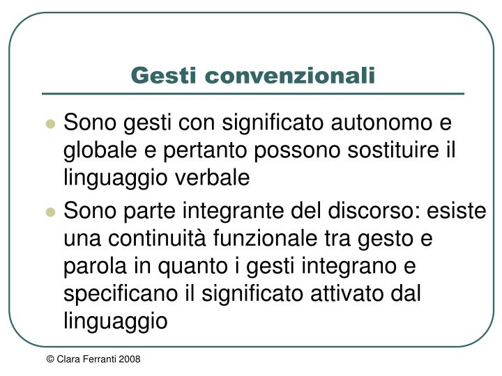 Gesti convenzionali