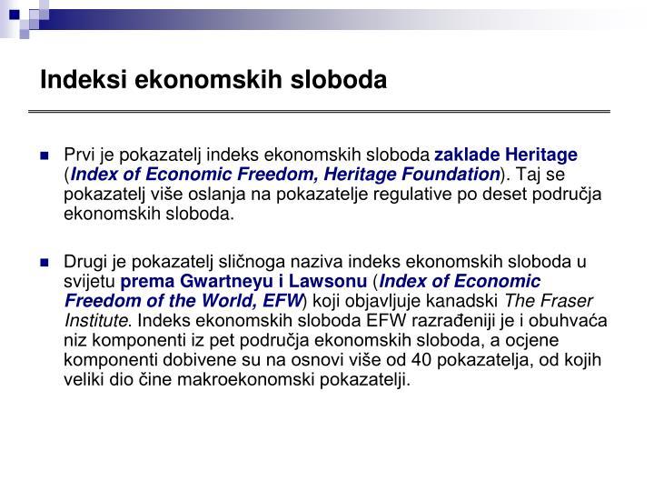 Indeksi ekonomskih sloboda