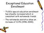 exceptional education enrollment