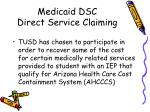 medicaid dsc direct service claiming