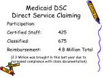 medicaid dsc direct service claiming1
