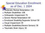 special education enrollment as of dec 1 20041