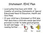 statement ehc plan