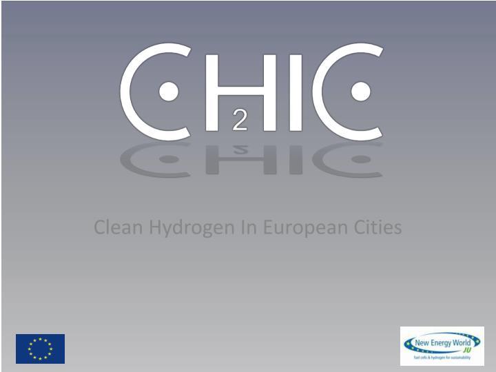 Clean Hydrogen In European Cities