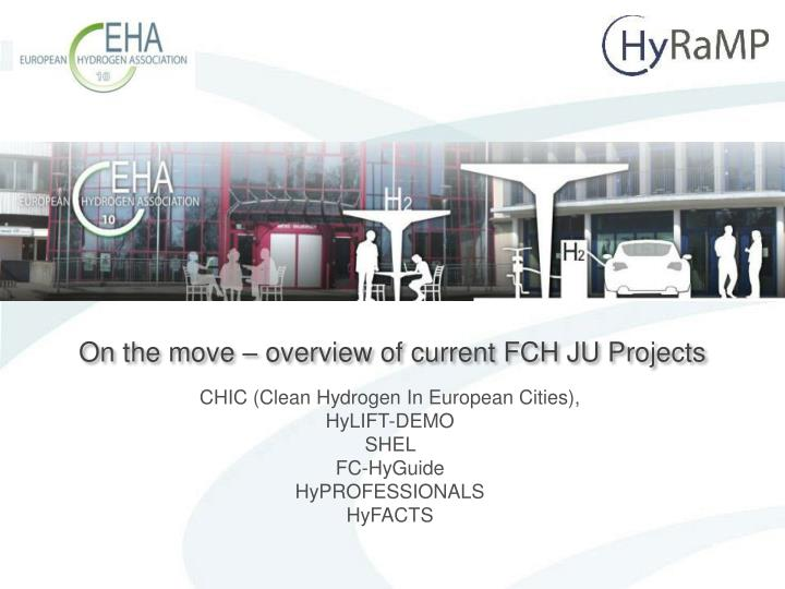 On the move overview of current fch ju projects