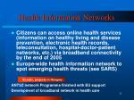 health information networks