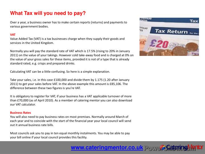 What Tax will you need to pay?