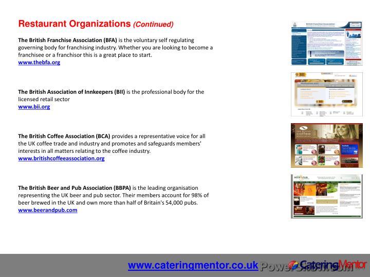 Restaurant Organizations