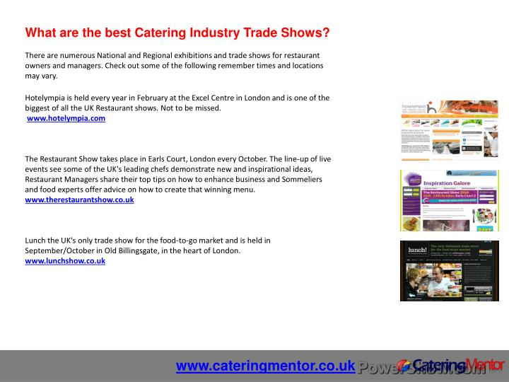 What are the best Catering Industry Trade Shows?