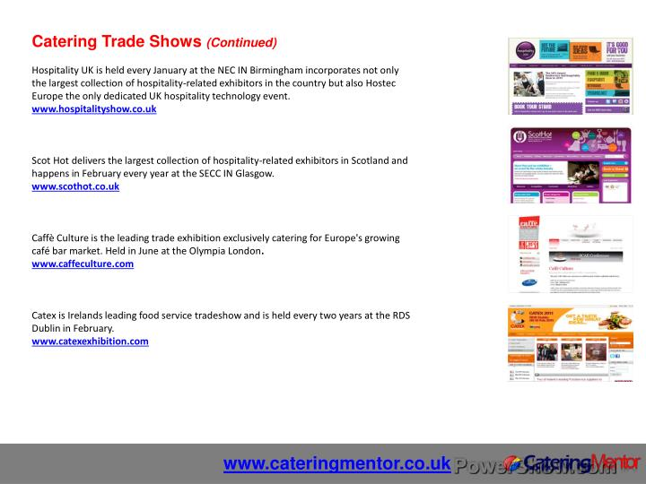 Catering Trade Shows