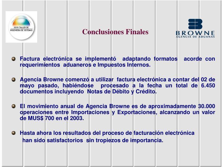 Conclusiones Finales
