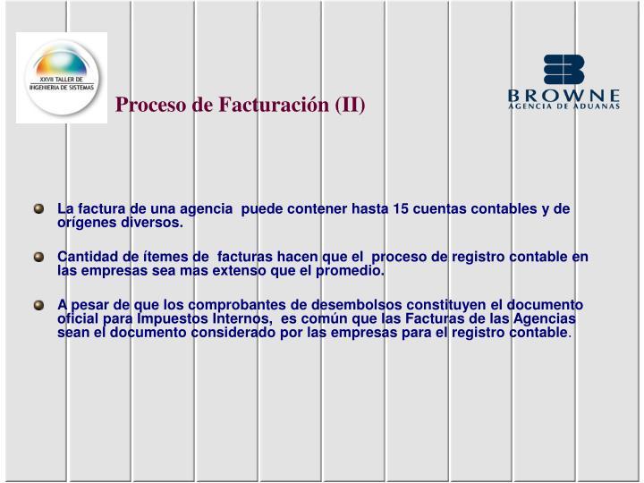 Proceso de Facturación (II)