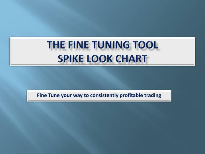 the fine tuning tool spike look chart n.