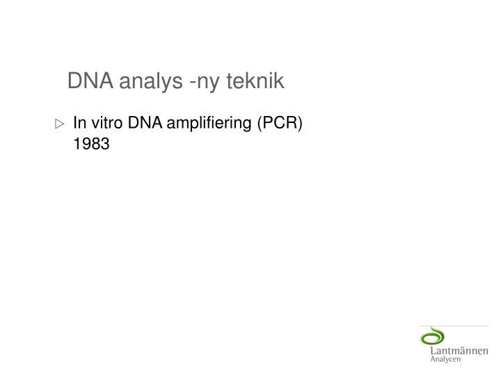 DNA analys -ny teknik