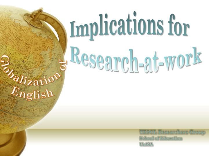 globalization of english a bane or English is a world language now, the dominant language of science, computing and academia in general but looking back 100 years, to the start of the first world war, it wasn't so clear that english would be so dominant.