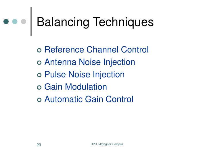 Balancing Techniques