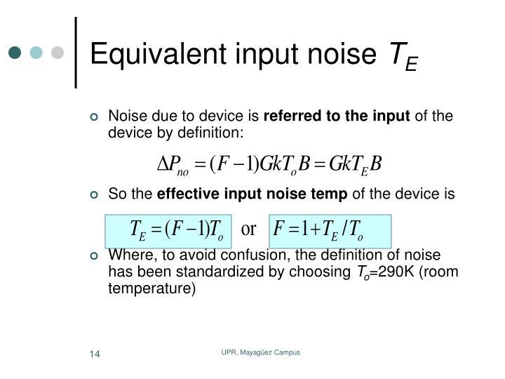 Equivalent input noise