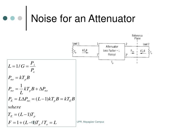Noise for an Attenuator