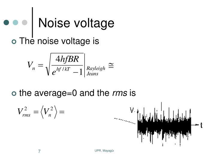 Noise voltage