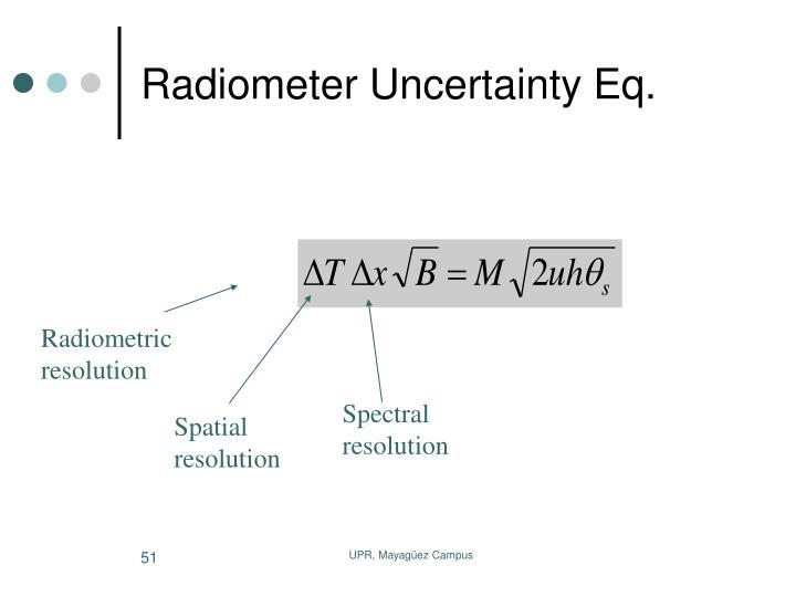 Radiometer Uncertainty Eq.