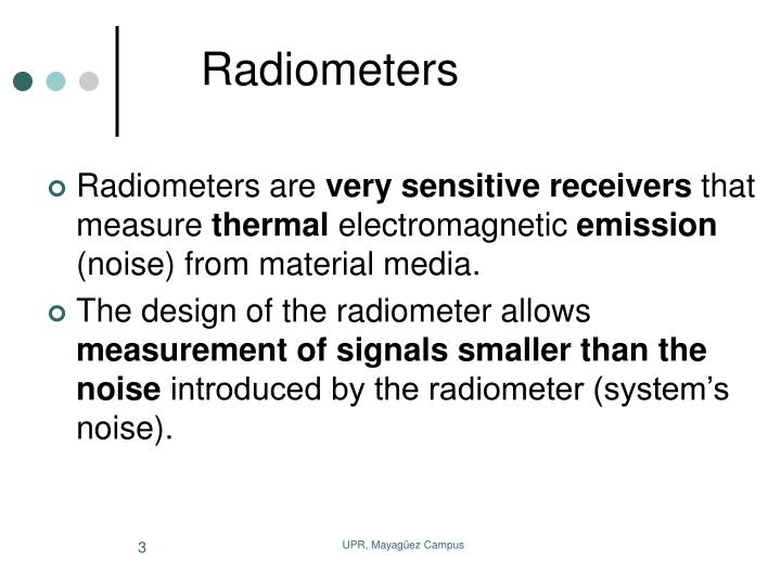 Radiometers