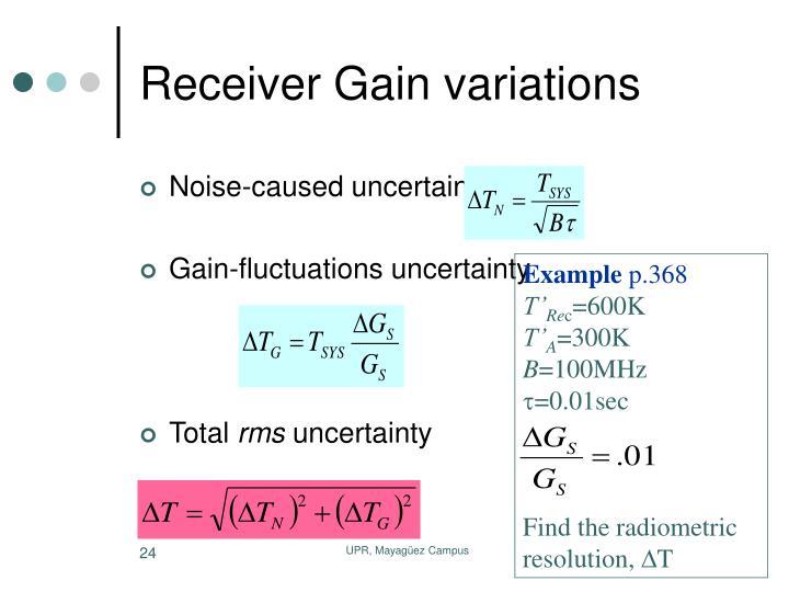 Receiver Gain variations
